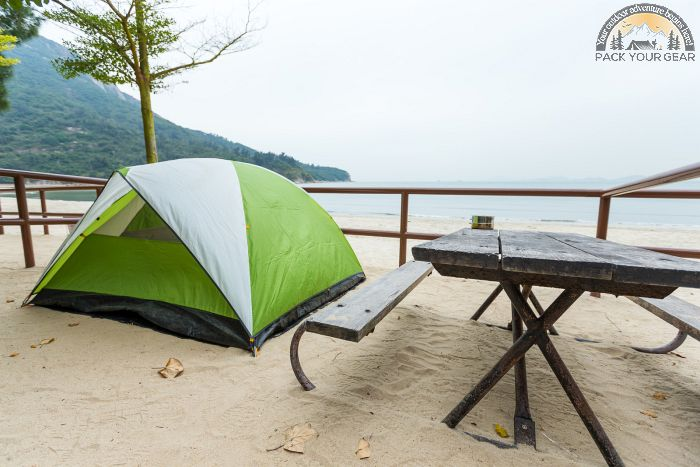 Install Tent In Beach