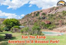 Can you camp anywhere in a national park?