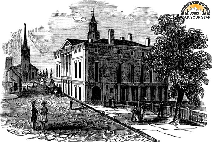 Federal Hall Vintage Illustration