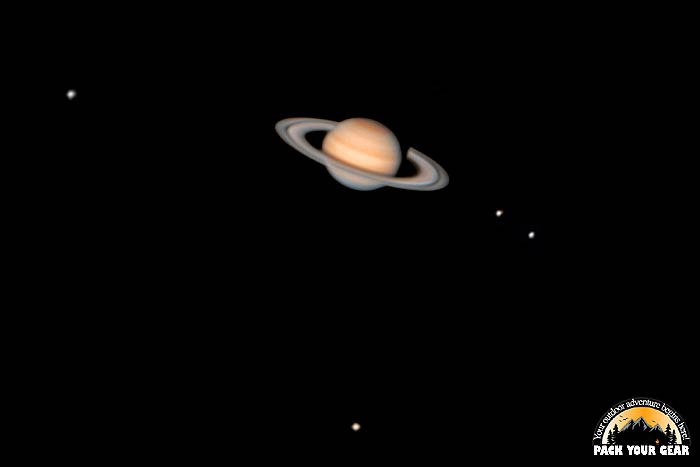How Big Does Saturn Show Up In The Telescope?