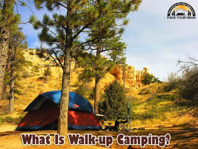 What is walk-up camping?